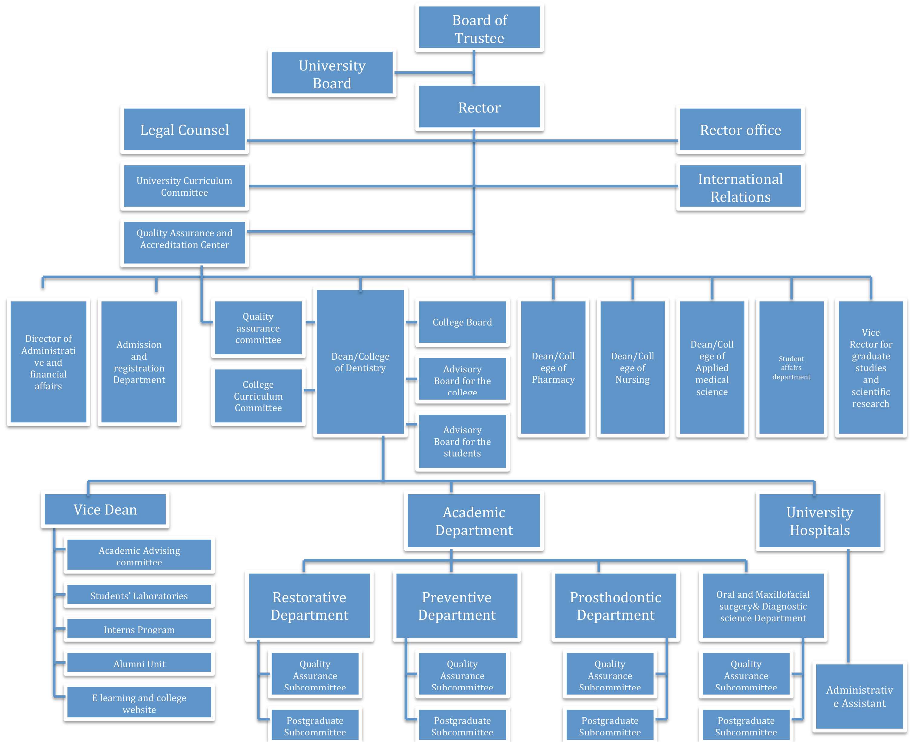 Organizational Chart - Riyadh Elm University | جامعة رياض العلم